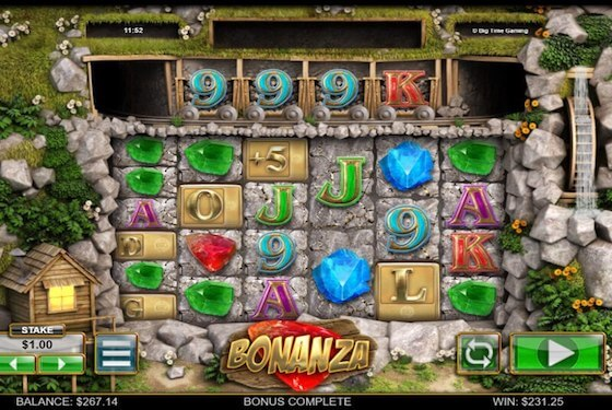 Bonanza slot gameplay