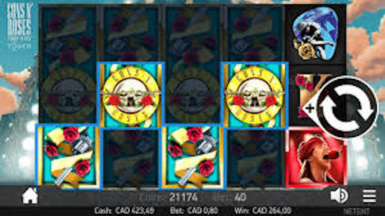 Guns N Roses video slot gameplay