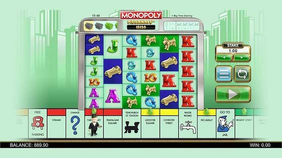 monopoly megaways gameplay